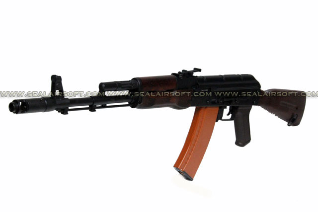 A.P.S. AK74 Real Wood Electric Blowback Rifle (ASK 201)