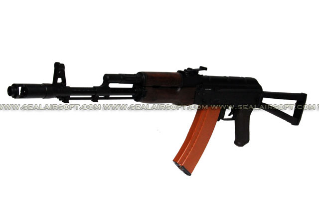 A.P.S. AKS74 (No Side Rail Mount) Real Wood Electric Blowback Rifle (ASK 202)