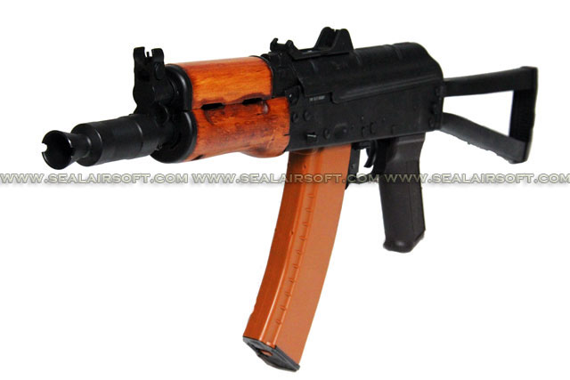 A.P.S. AKS74U Real Wood Electric Blowback Rifle (ASK 205)