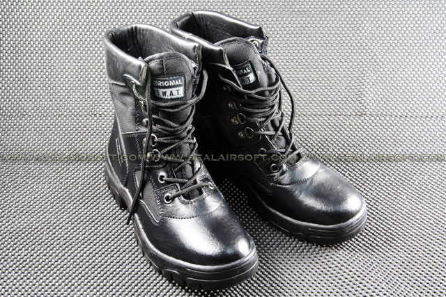 ACM US Army Desert Black Military 8 inch Combat Boots