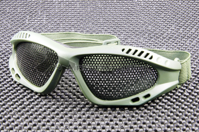Airsoft Mesh Lens Green Shooting Goggle MG01-GN