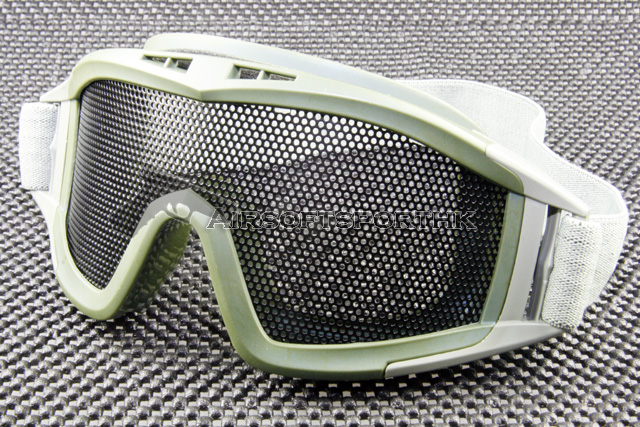 SWAT Airsoft Mesh Lens Green Shooting Goggle MG02-GN