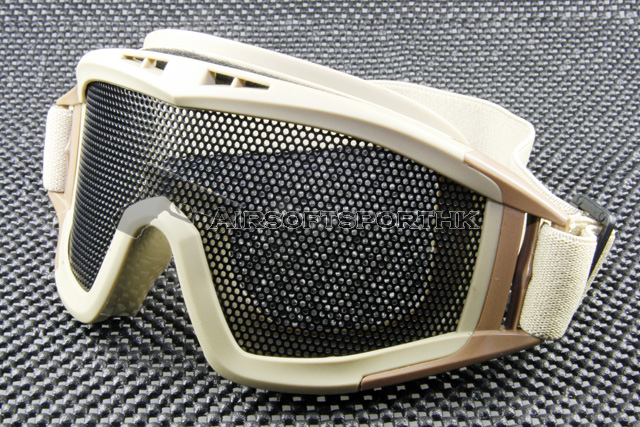 SWAT Airsoft Mesh Lens Tan Shooting Goggle MG02-GN