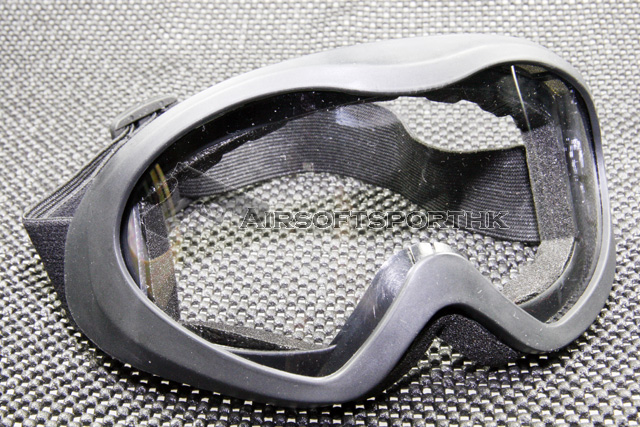 ACM Clear Lens Airsoft Wind Dust Black Frame Goggle UVX500