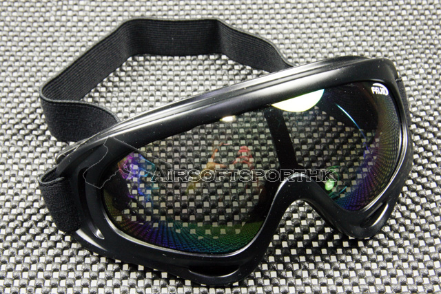 Multi UV Lens Wind Dust Airsoft Black Goggle UVX400