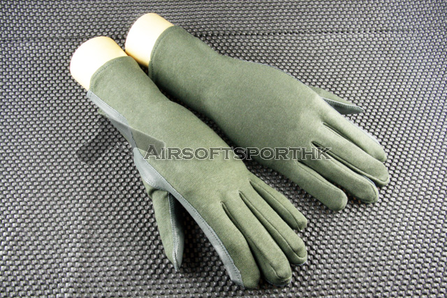USMC Marine Military Assault Pilot Green Flight Glove