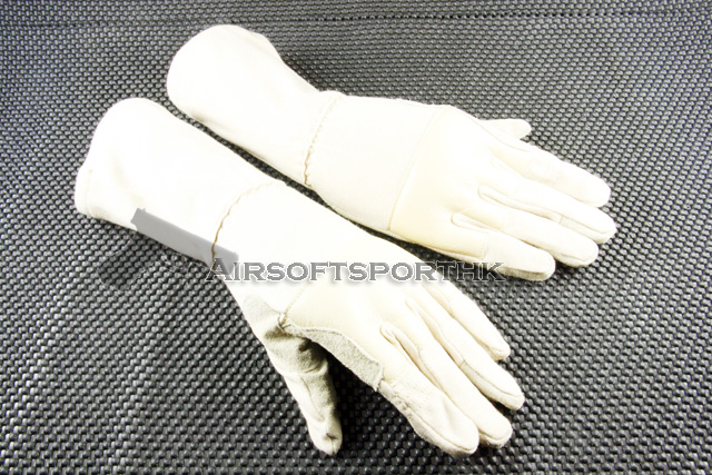 Airsoft Mid Arm Full Finger Tactical Tan Flight Glove