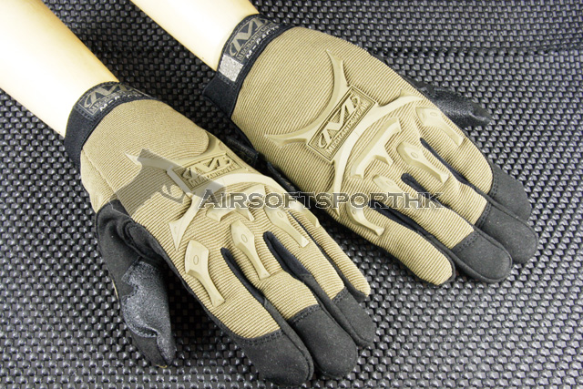Full Finger Airsoft M-Pact Style Dark Earth Glove 12