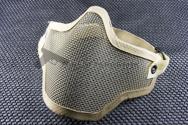 Half Face Protector Tan Shooting Mesh Large Mask 01