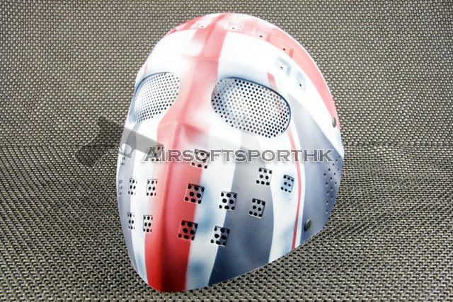 Steel Mesh Deluxe Full Face England Airsoft Mask 05