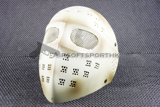 Steel Mesh Deluxe Full Face Desert Tan Airsoft Mask 05