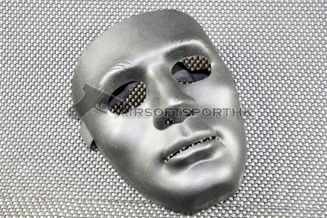 Full European Face Plastic Black Protector Mask 09