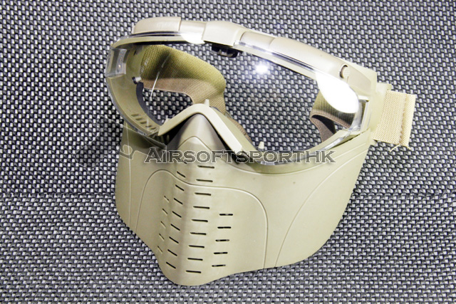 Full Face Clear Goggle Tan Protector Mask With Fan 11
