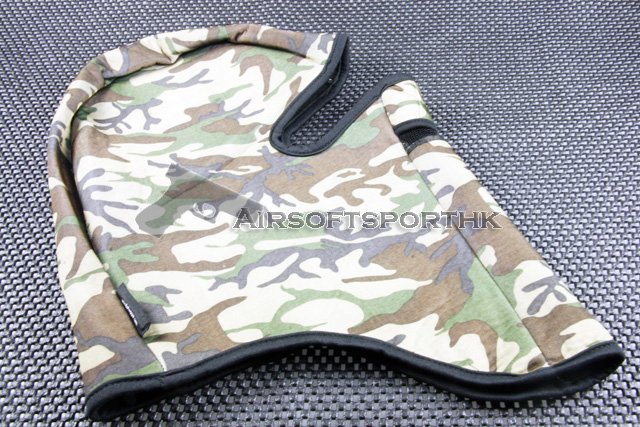 Full Face 1 Hole Woodland Camo Balaclava Hood Mask 15