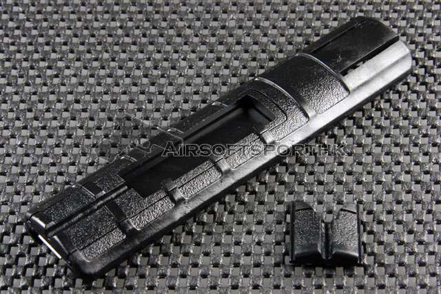 ACM Type 155mm Rail Black Plastic Cover With 2 Remote Press Switch Pocket