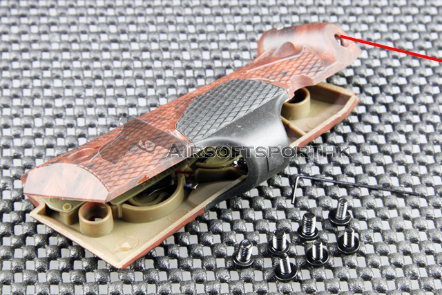 Silverback Red Dot Laser Grip For M1911 Wood Patten
