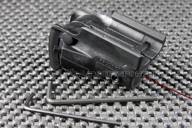 OP Red Dot Black Laser Sight with Lateral Grooves For Glock Pistol