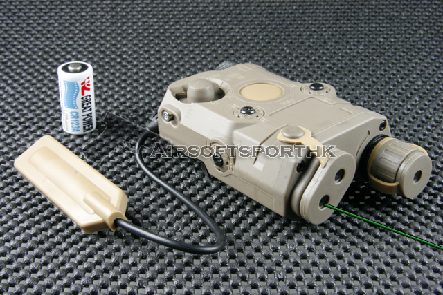 AN / PEQ-15 Tan 532nm Green Dot Laser With LED Light PT-PEQ15-TGL