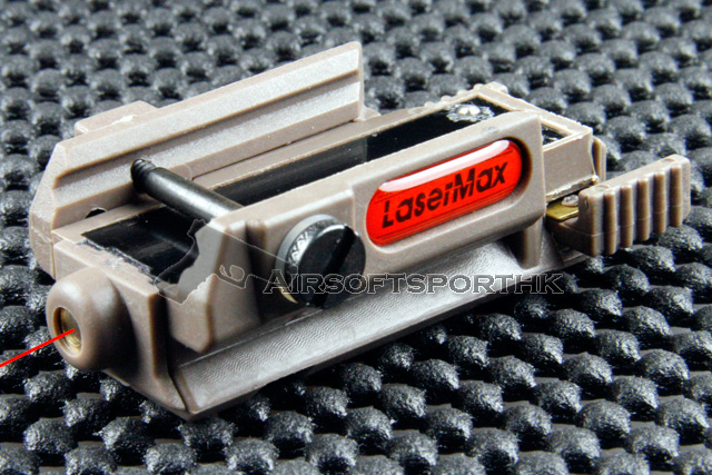 LM Type 20mm Rail Base With Red Dot Flash Laser Tan Sight