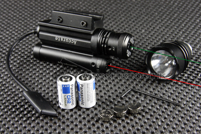 Red Dot Laser With 6V Xenon Light / Green Dot Laser Sight Set LS114-2