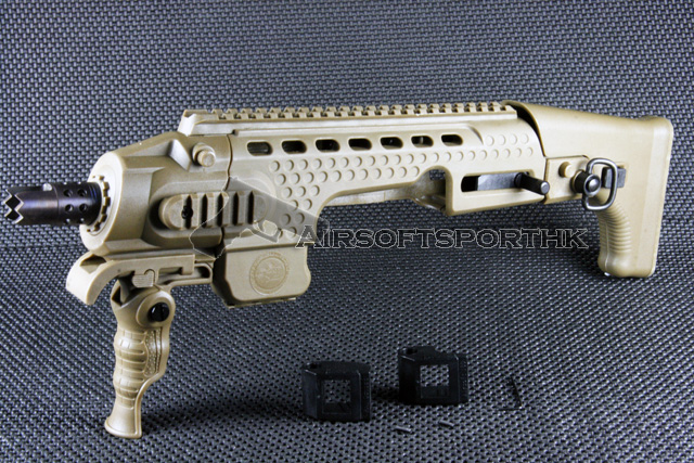 A.P.S. Caribe Action Combat Carbine Kit for KSC / Marui Glock (Dark Earth)