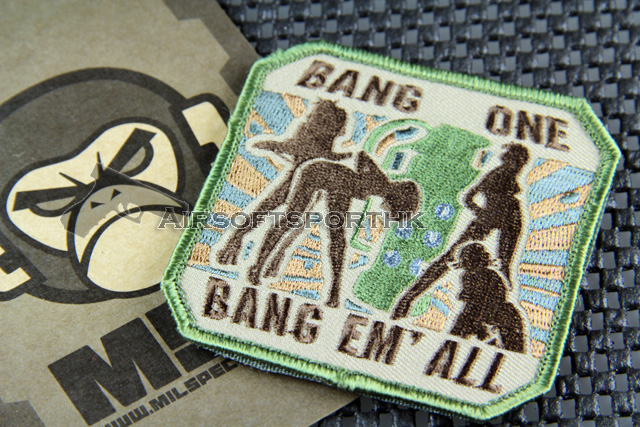 Mil-Spec Monkey Bang One, Bang Em' All (Large) Logo Velcro Patch - ARID