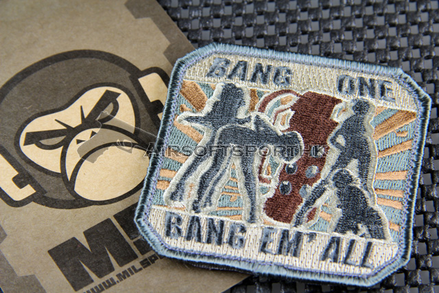 Mil-Spec Monkey Bang One, Bang Em' All (Large) Logo Velcro Patch - ACU