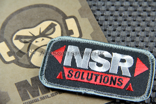 Mil-Spec Monkey NRS Solution Logo Velcro Patch - Red / Black