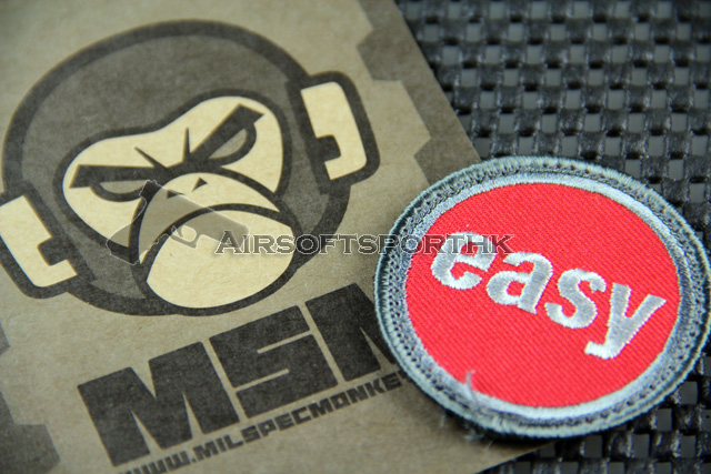 Mil-Spec Monkey Easy Button Logo Velcro Patch - Color