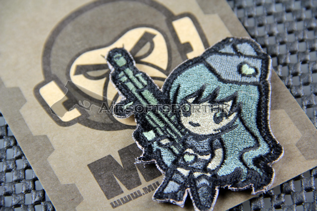 Mil-Spec Monkey Gun Girl 1 Logo Velcro Patch - ACU