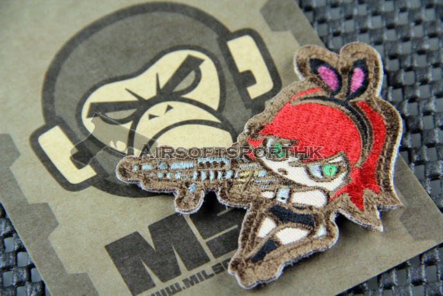 Mil-Spec Monkey Bunny Girl Logo Velcro Patch - High Contrast