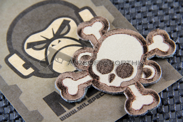 Mil-Spec Monkey SKullMonkey Cross Patch Logo Velcro Patch - Desert