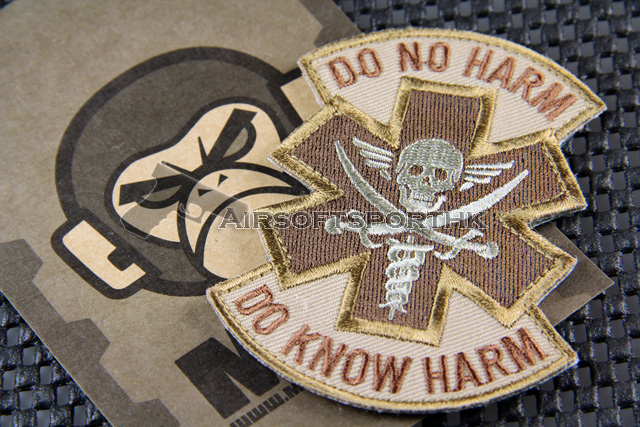 Mil-Spec Monkey Do No Harm (Pirate) Logo Velcro Patch - Desert