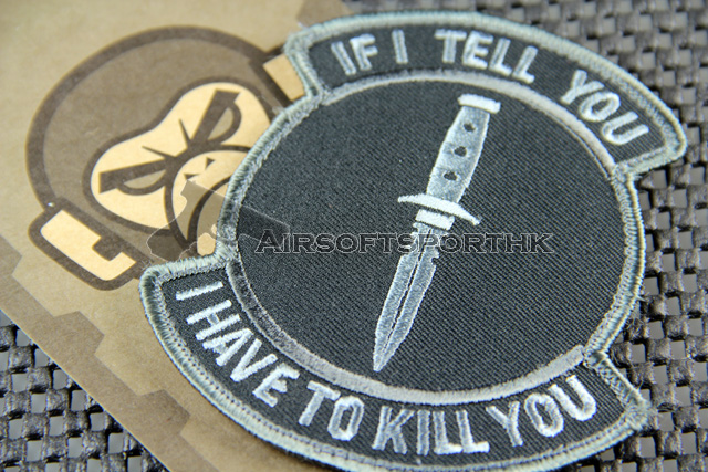 Mil-Spec Monkey If I Tell You Logo Velcro Patch - ACU Dark