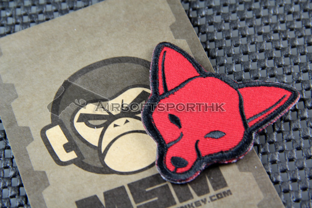Mil-Spec Monkey Fox Head Logo Velcro Patch - Red