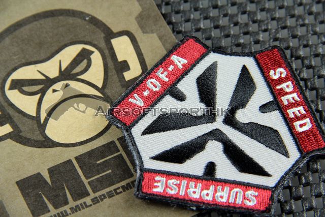 Mil-Spec Monkey Trigger Pull Logo Velcro Patch - Red