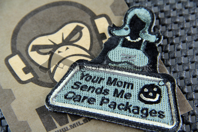 Mil-Spec Monkey Your Mom Sends Logo Velcro Patch - ACU