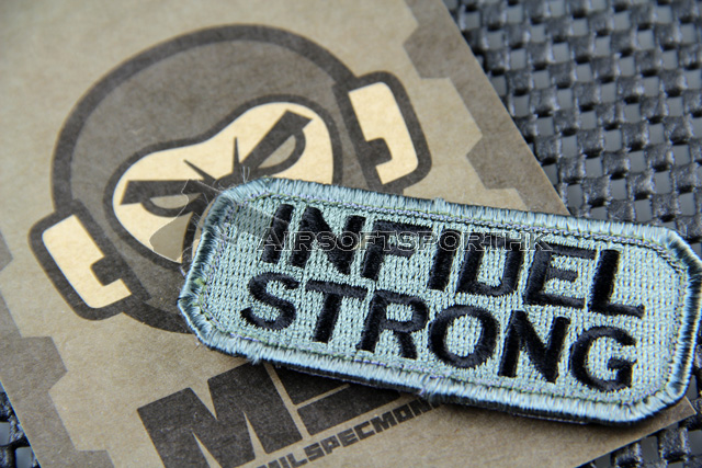 Mil-Spec Monkey Infidel Strong Logo Velcro Patch - ACU Dark