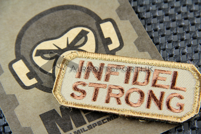 Mil-Spec Monkey Infidel Strong Logo Velcro Patch - Desert