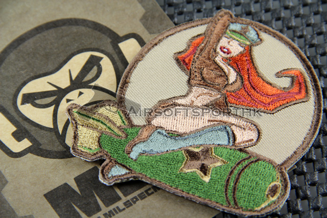 Mil-Spec Monkey Pinup Girl Logo Velcro Patch - ARID