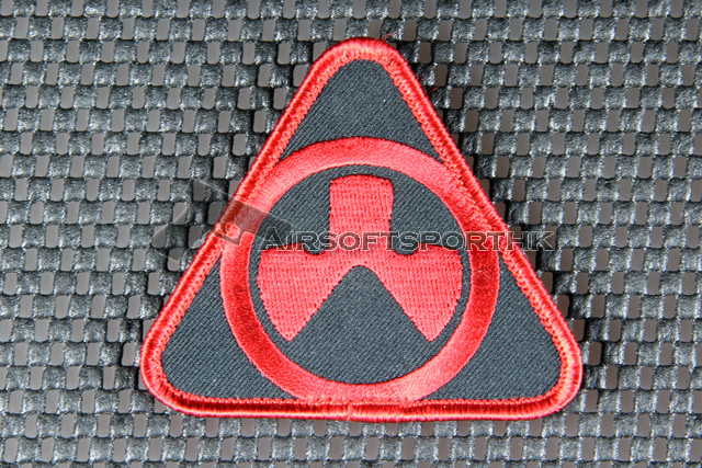 Magpul Dynamic Logo Velcro Patch - Red / Black