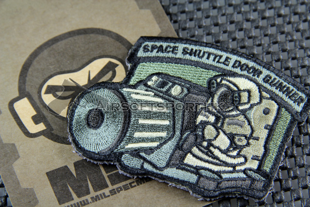 Mil-Spec Monkey Shuttle Door Gunner Logo Velcro Patch - ACU