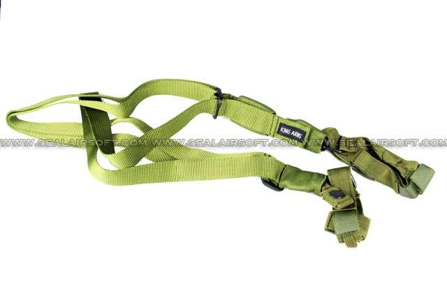 King Arms 3-Point Tactical Assault Sling (Olive Drab)