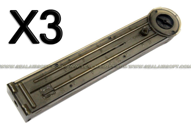 All China Made 300rd Hi-Cap Magazine For P90 Airsoft AEG ACM-MAG-P90-300-3PCS