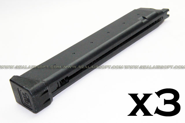ACM 49rd Long Magazine for Marui Glock GBB (G17/G18C) ACM-GBBPM-TMG17-L-3PCS