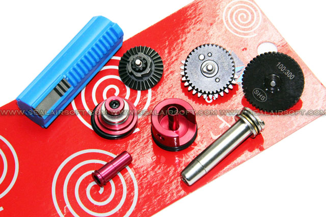 SHS 100:300 Gear Full Tune-Up Set for M4 AEG (3 Teeth Piston)(Blue)