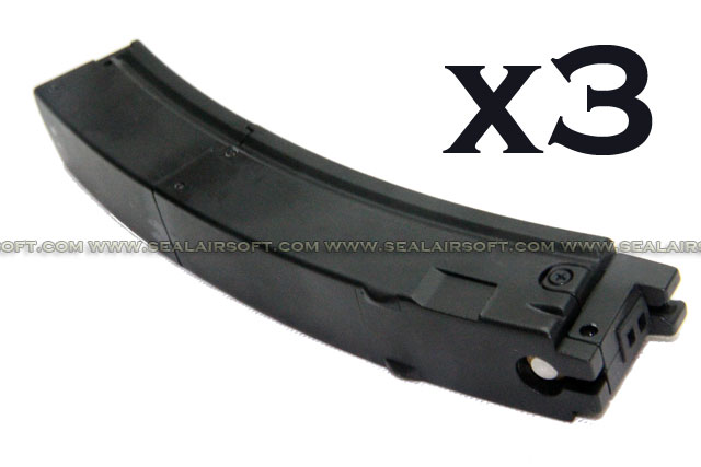 BELL 47rd Magazine For EG722 MP5 Series GBB BELL-MAG-MP5GAS-3PCS