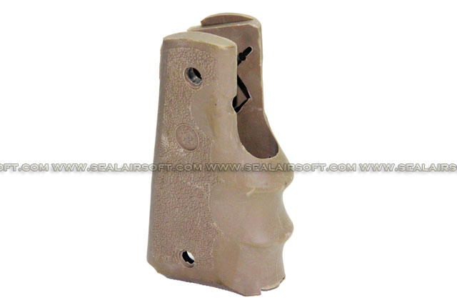 A.C.M. Airsoft Rubber Finger Grooves Grip For M1911 (Dark Earth) CM-HG001-DE
