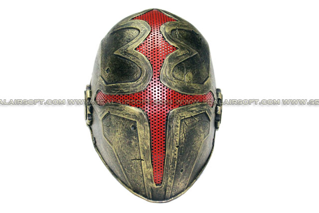 FMA Wire Mesh Cross the King Mask (Gold) FMA-TB610