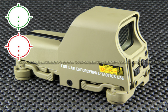 China Made 553 Style QD Red Green Dot Tan AAA Holographic Sight RDS-018